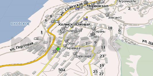 Карта Холмск Навител