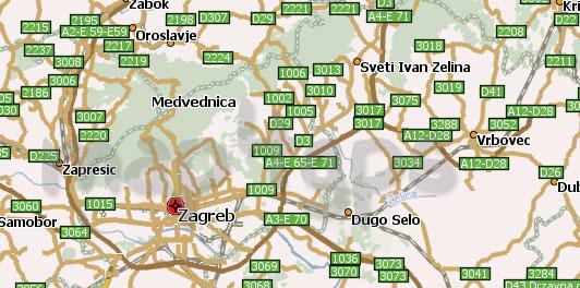 Карта Хорватии для Навител