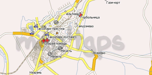 Карта республики Ингушетия Навител