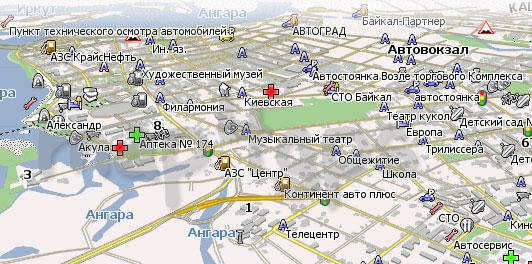 Карта Иркутск Навител