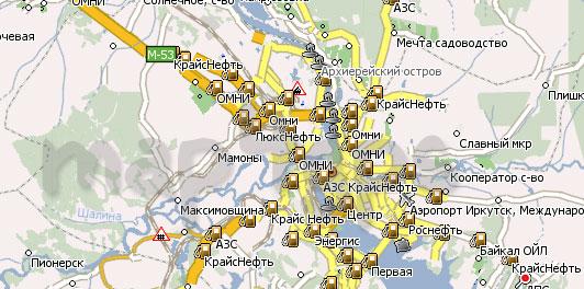 Карта Иркутская область Навител
