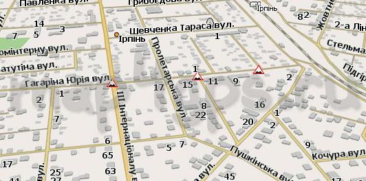 Карта Ирпень Навител