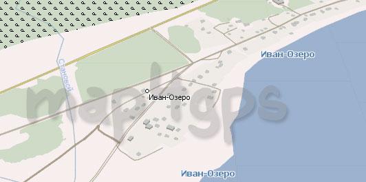 Карта Иван-Озеро Навител