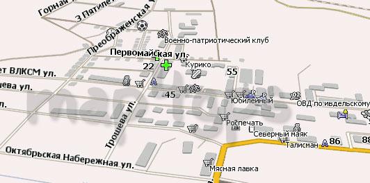 Карта Ивдель Навител