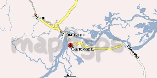 Карта Ямало-Ненецкого АО Навител