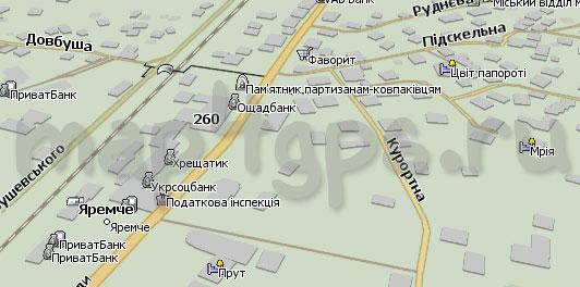 Карта Яремче Навител