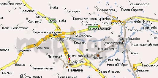 Карта Кабардино-Балкарской республики Навител