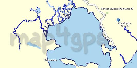 Карта Камчатский край для Семи дорог