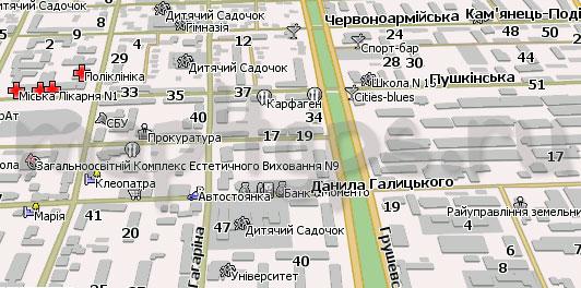 Карта Каменец-Подольский для Навител