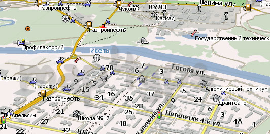 Карта Каменск-Уральский Навител