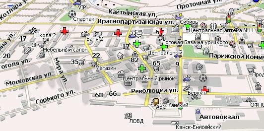 Карта Канска Навител