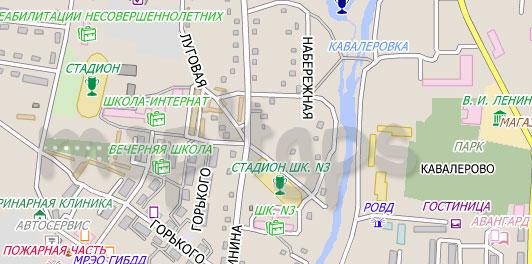 Карта Кавалерово City Guide