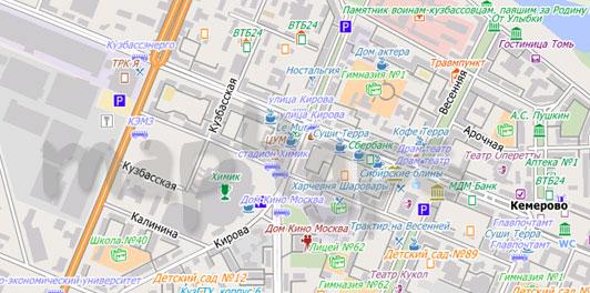 Карта Кемерова для City Guide