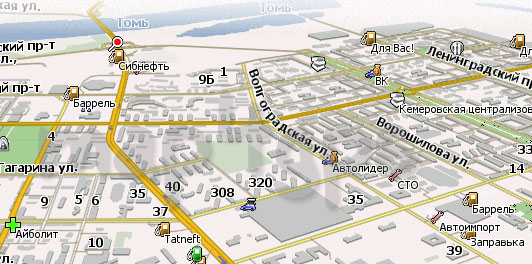Карта Кемерово Навител