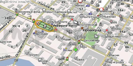 Карта Кировограда для Навител