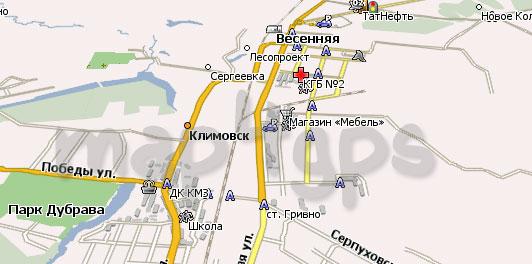 Карта Климовск Навител