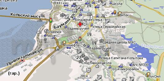 Карта Кола Навител
