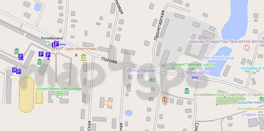 Карта Колюбакино для City Guide