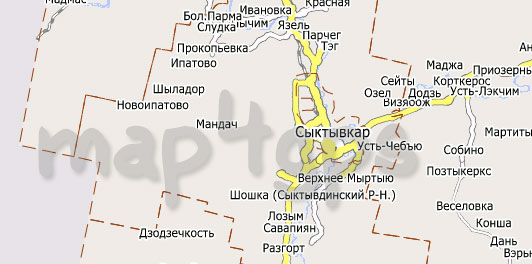 Карта респ Коми City Guide