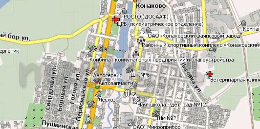 Карта Конаково и район Навител