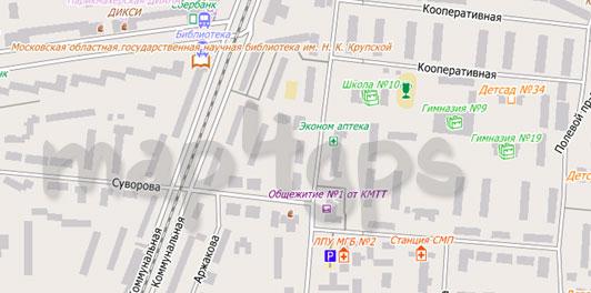 Карта Королева для City Guide