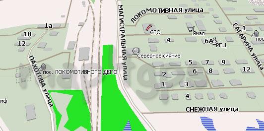 Карта Коротчаево Навител