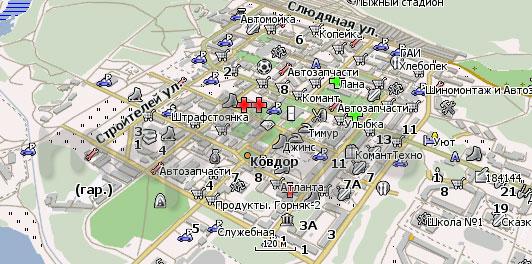 Карта Ковдор Навител