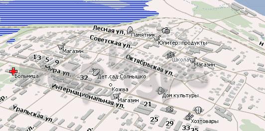 Карта Кожва для Навител Навигатор