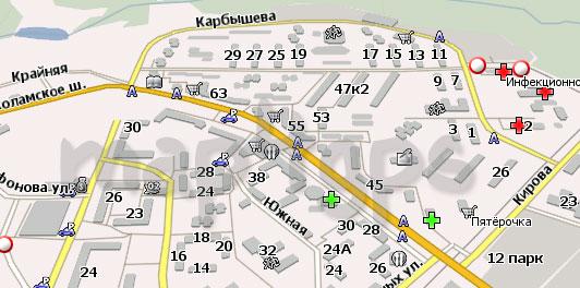 Карта Красногорск Навител
