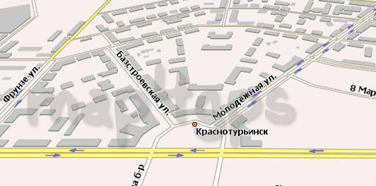 Карта Краснотурьинск Навител