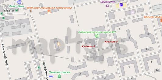 Карта Кубинки для City Guide