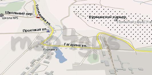 Карта Курманка Навител