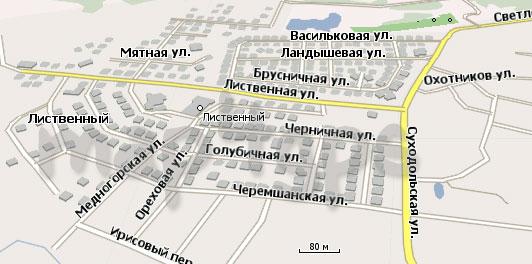 Карта Лиственный Навител