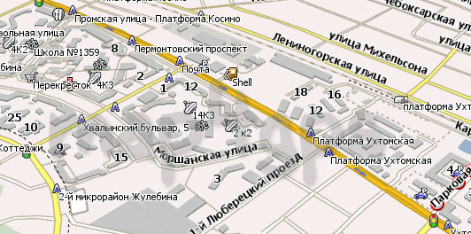 Карта Люберцы Навител