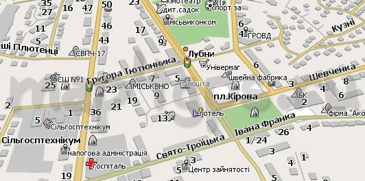 Карта Лубны для Навител