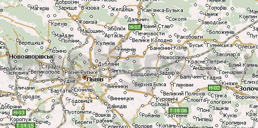 Карта Львовская область Навител