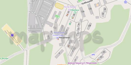 Карта Менделеево для City Guide