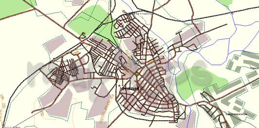 Карта Мичуринск Gis Russa