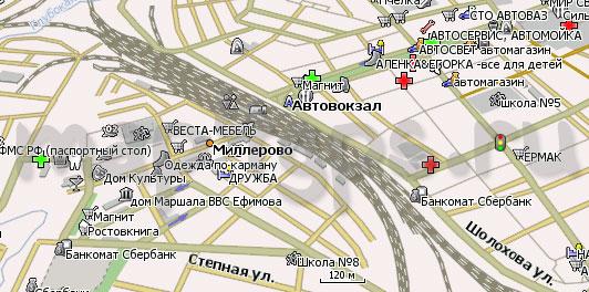 Карта Миллерово Навител