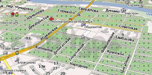 Карта Минусинск Навител