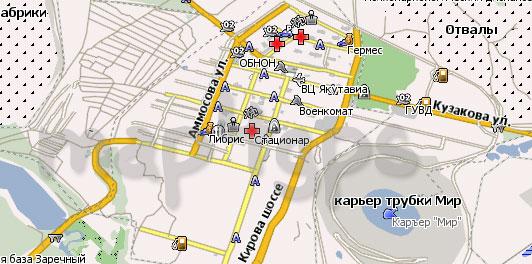 Карта Мирный (Саха) Навител
