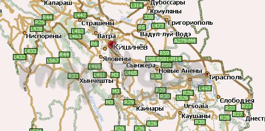 Карта Молдавии для Навител