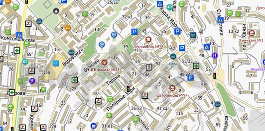Карта Мурманска для City Guide