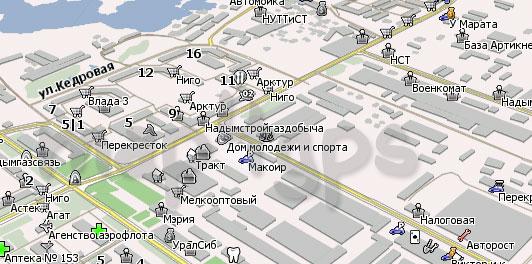 Карта Надым Навител