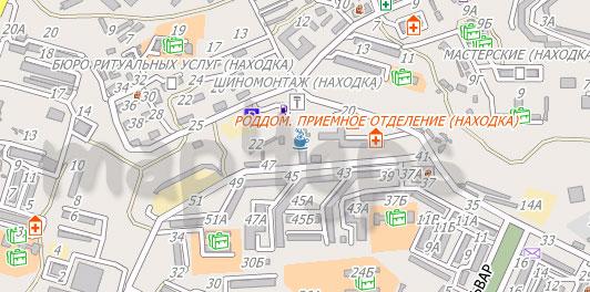Карта Находка City Guide