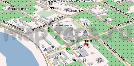 Карта Нерчинск Навител