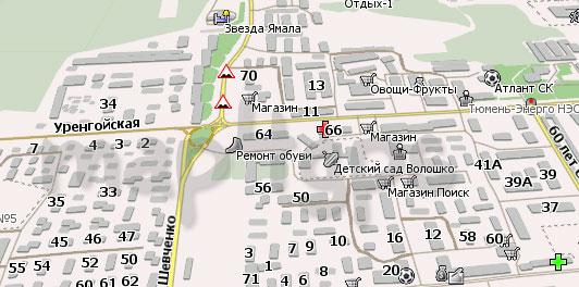 Карта Ноябрьск Навител
