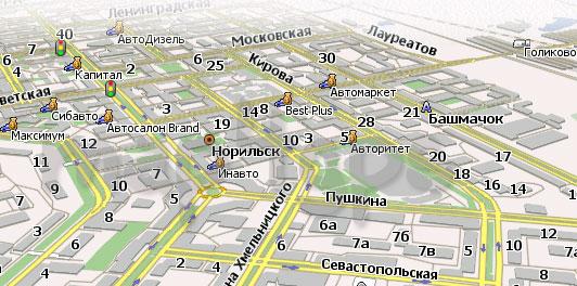 Карта Норильск Навител