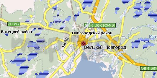 Карта Новгородская область Навител