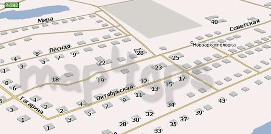 Карта Новоархангеловка Навител